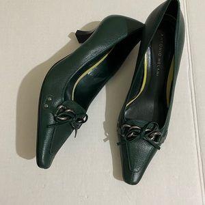 Antonio Melani Leather Shoe Kitten Heel Size 7